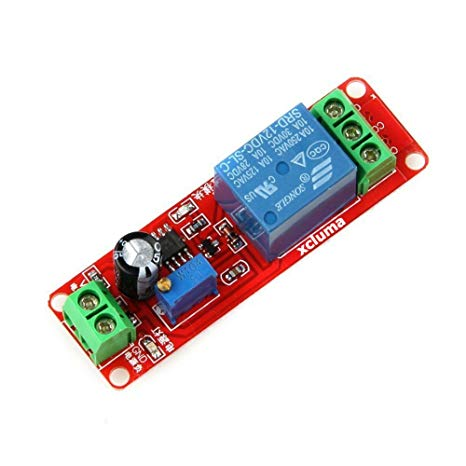 1PCS NE555 12V Delay Adjustable Timer Relay Switch Module 0-10 Second NE555  New