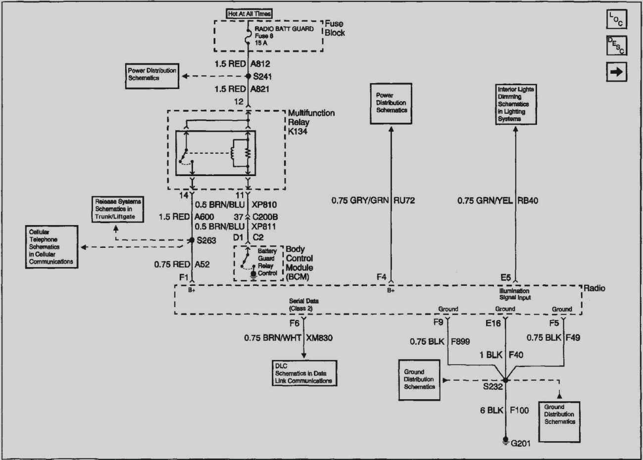fuse diagram 2002 dts we 2175  2002 cadillac deville fuse diagram schematic wiring  cadillac deville fuse diagram schematic