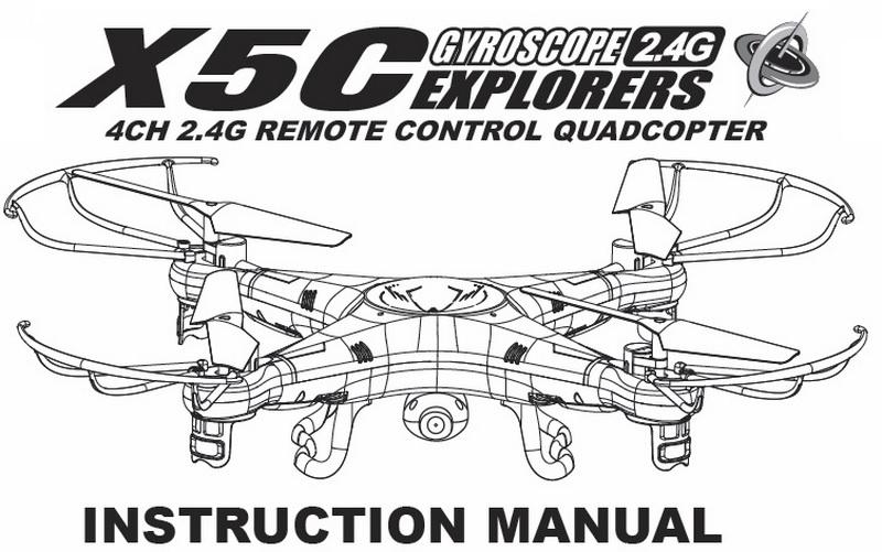 Manual Instrucciones Drone Syma X5c