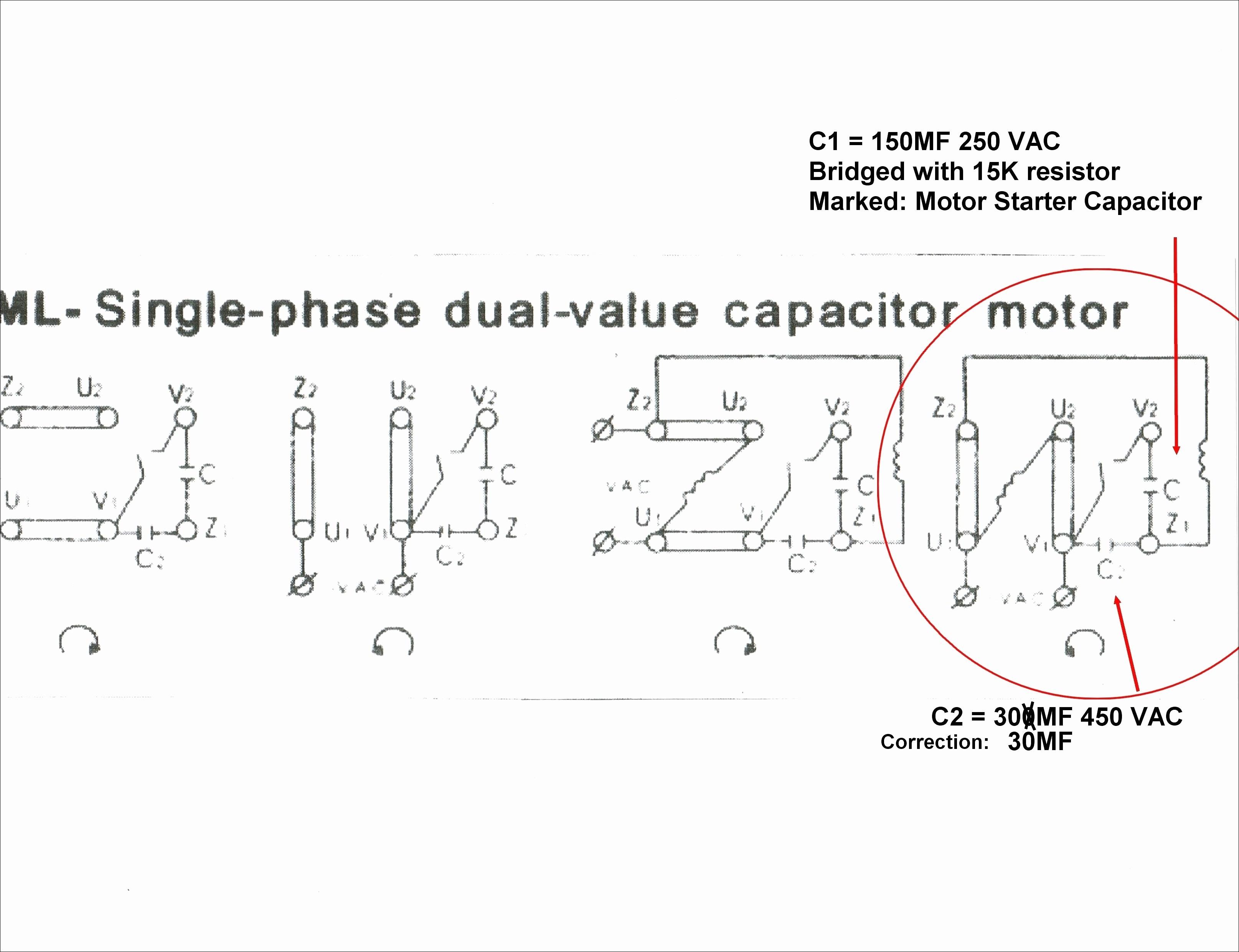Weg Single Phase Motor Wiring Diagram With Capacitor