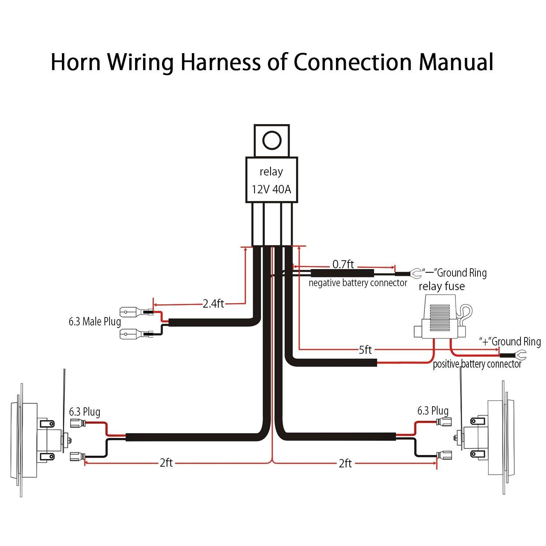Ho 5975  Loud Horns Dual Horn Relay Diagram On Horn Relay Wiring Diagram Free Diagram