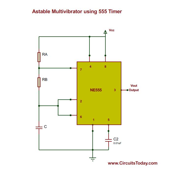 Superb Astable Multivibrator Using 555 Timer Wiring Cloud Faunaidewilluminateatxorg