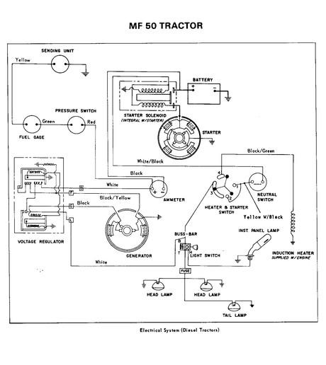 Pleasant Mf Tractor Wiring Diagram Wiring Diagram Wiring Cloud Uslyletkolfr09Org