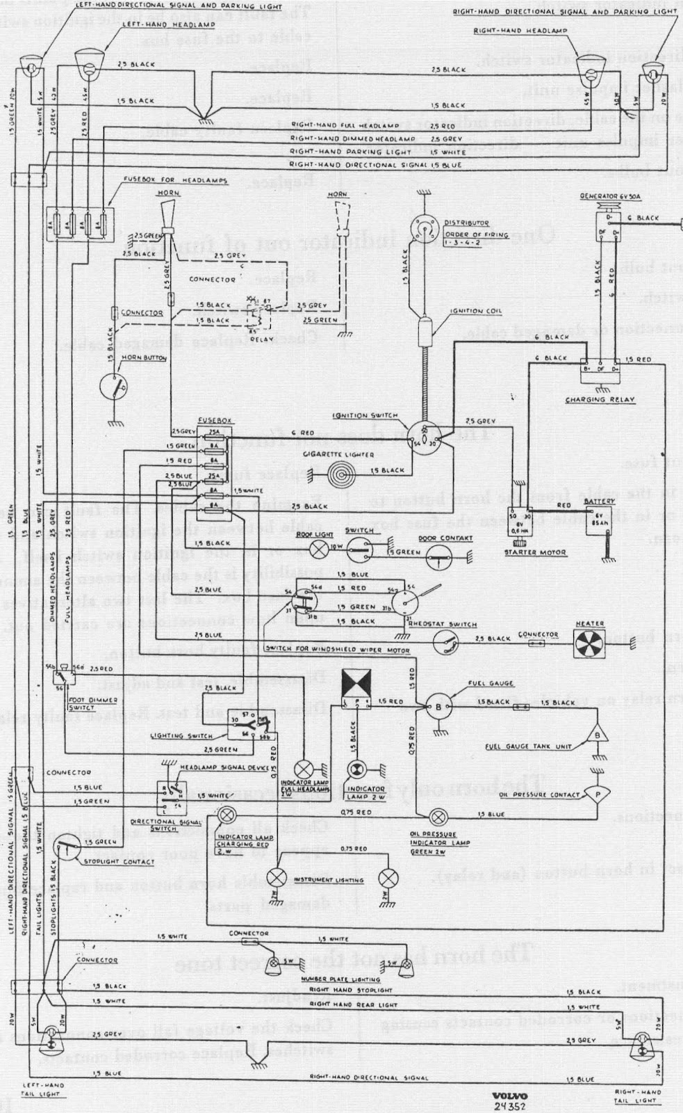 volvo wiring diagram ft 5731  complete wiring diagram of volvo pv544 all about wiring volvo wiring diagrams 740 complete wiring diagram of volvo pv544