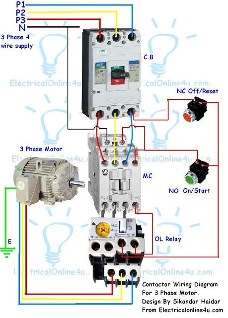 Fabulous Contactor Wiring Guide For 3 Phase Motor With Circuit Breaker Wiring Cloud Orsalboapumohammedshrineorg
