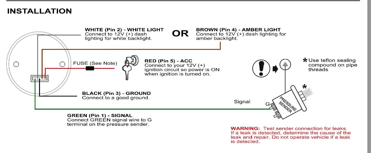 Glowshift Gauges Wiring Diagram