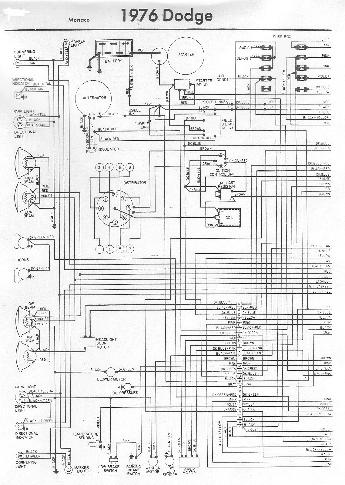 Diagram  2000 Monaco Dynasty Wiring Diagram Full Version