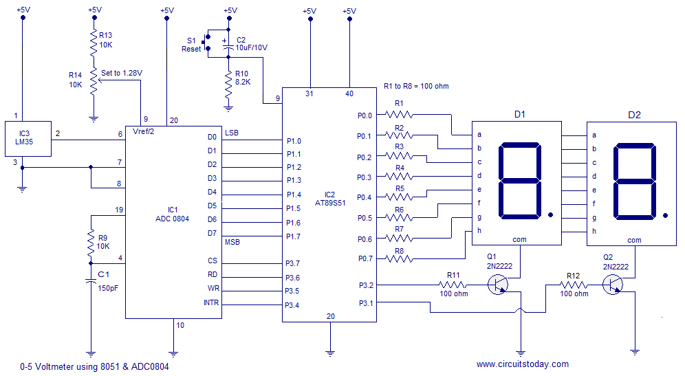 Fine Digital Thermometer Using 8051 Lm35 Temperature Sensor And Adc0804 Wiring Cloud Timewinrebemohammedshrineorg