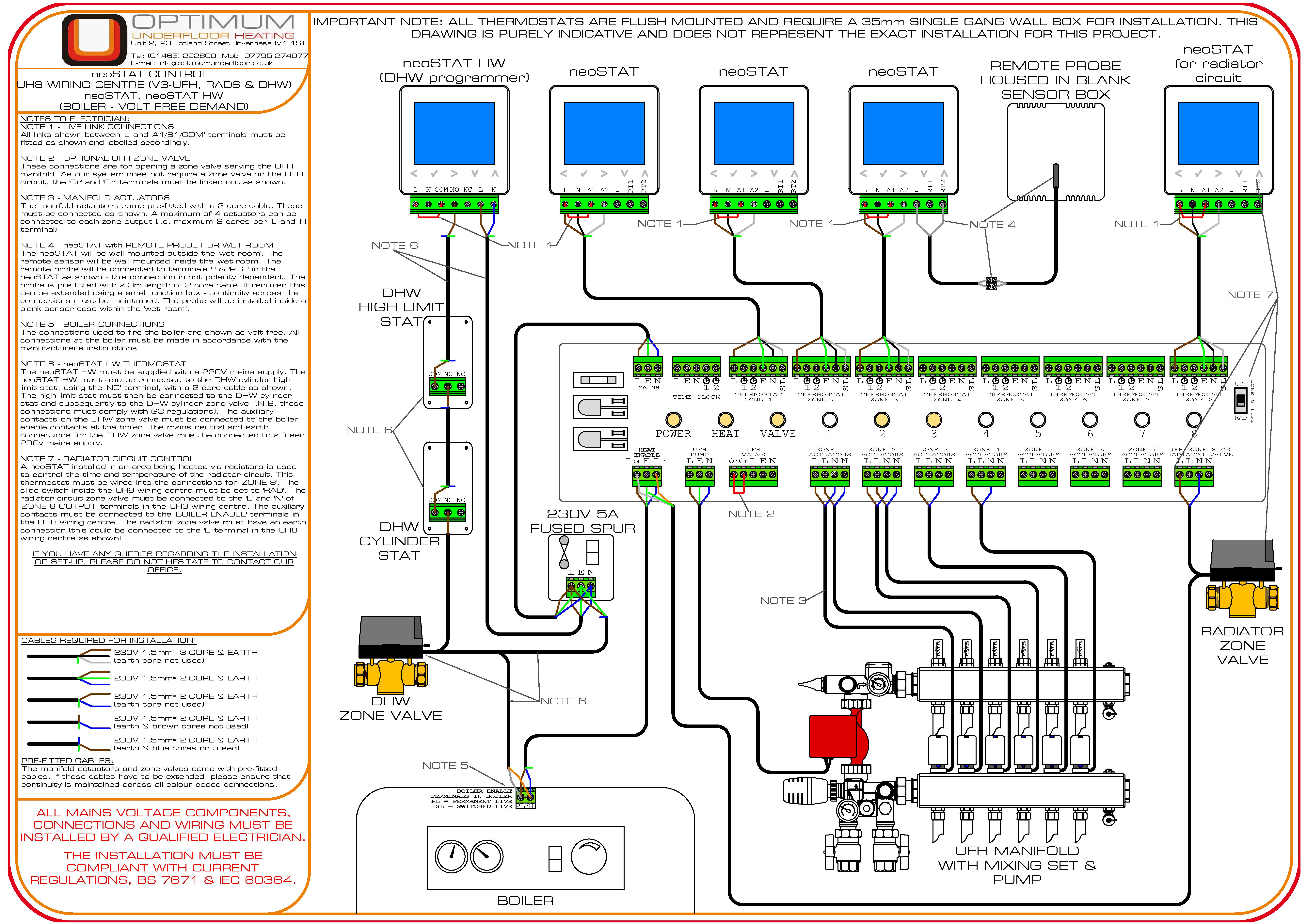 Wiring Diagram Underfloor Heating