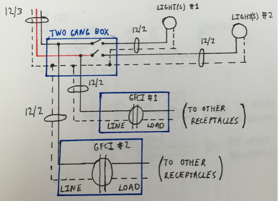 Excellent Electrical Need Help Designing A Circuit Layout And Wiring Diagram Wiring Cloud Rineaidewilluminateatxorg