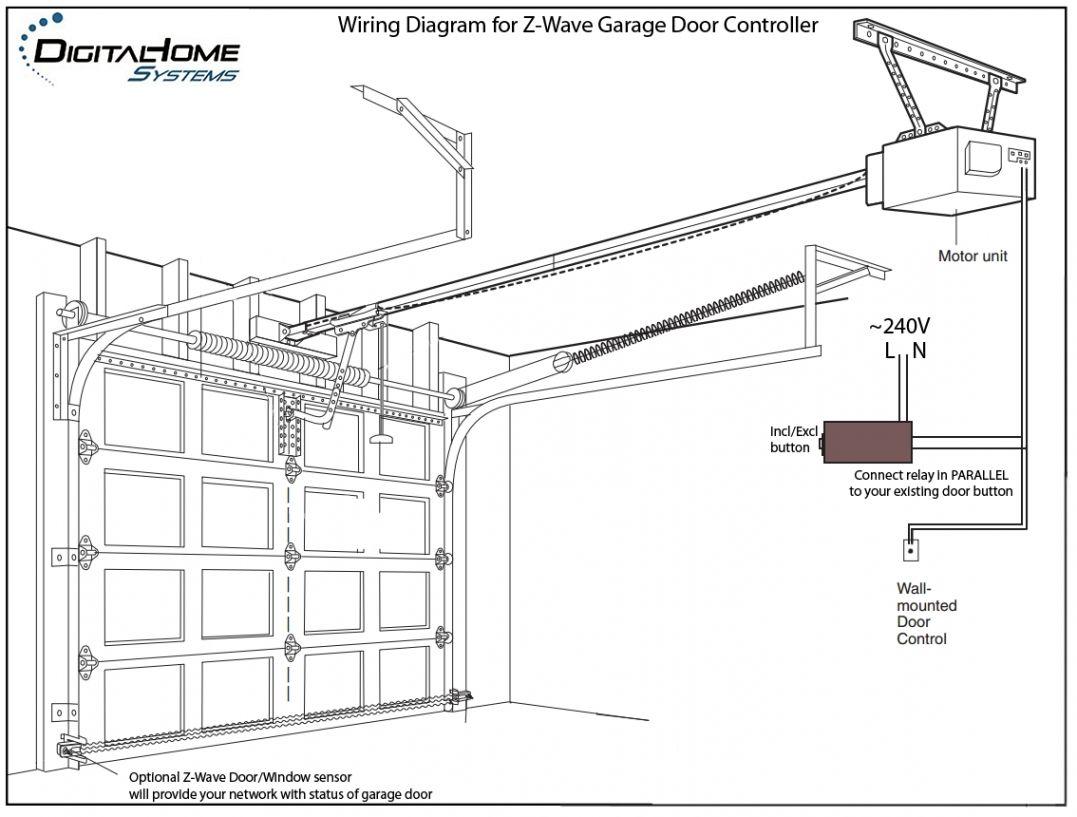 Bv 4942 Wiring Diagram For Wall Mount Garage Door Schematic Wiring