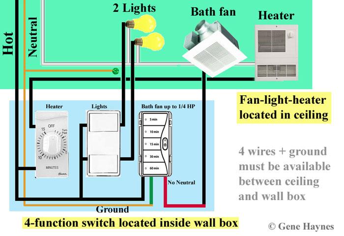 Vs 3421 Fan Heater Light Bo Switch Wiring On Wiring Light And