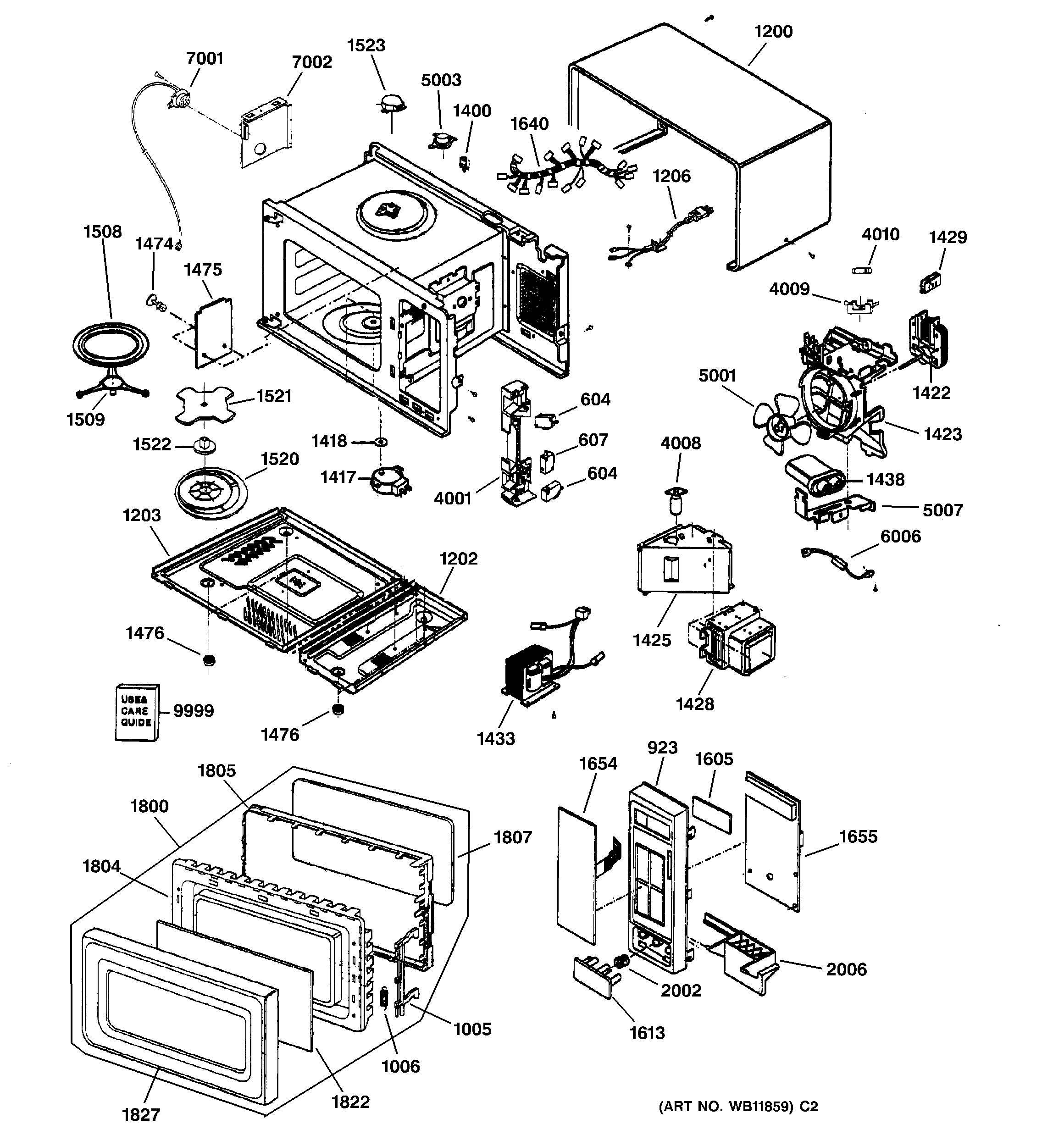 wiring diagram for ge microwave oven