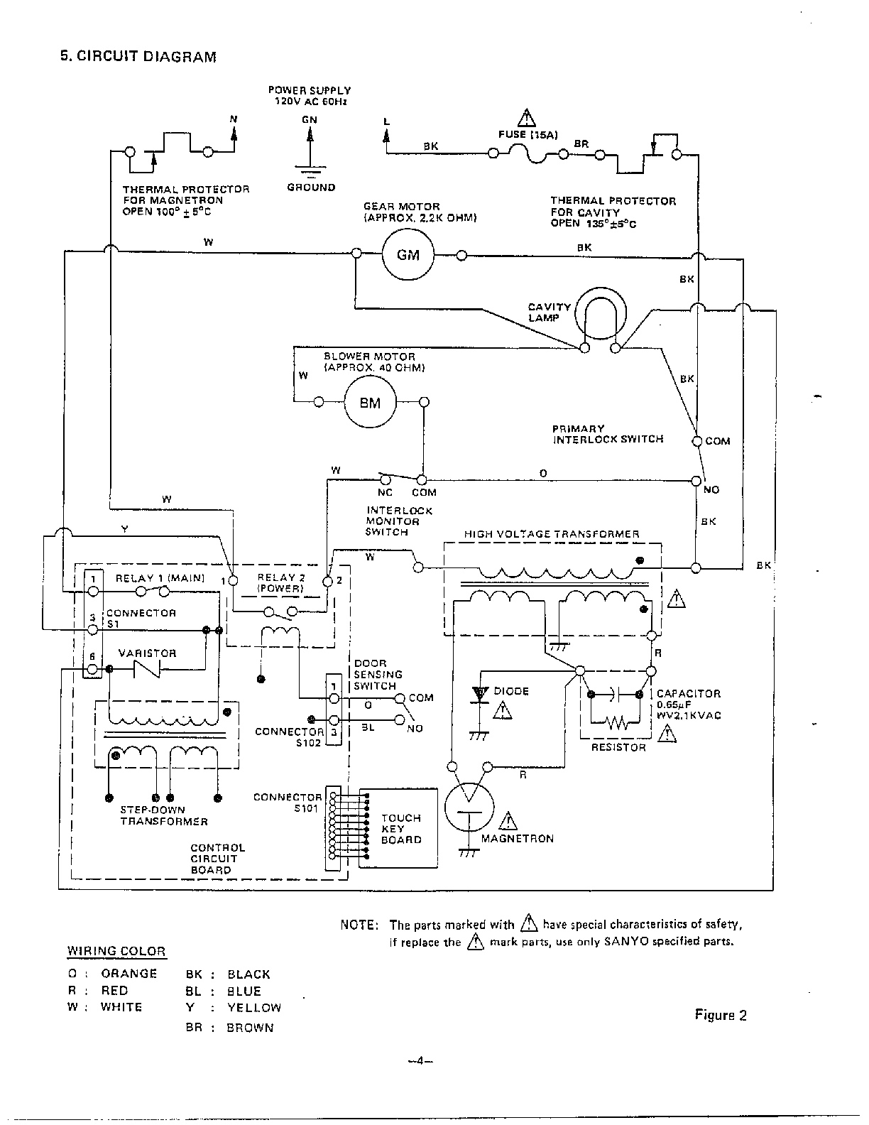 Microwave Oven Wiring Schematic