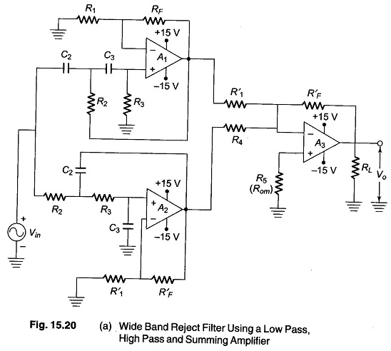 Wondrous Band Reject Filter Circuit Types Of Band Reject Filter Wiring Cloud Uslyletkolfr09Org
