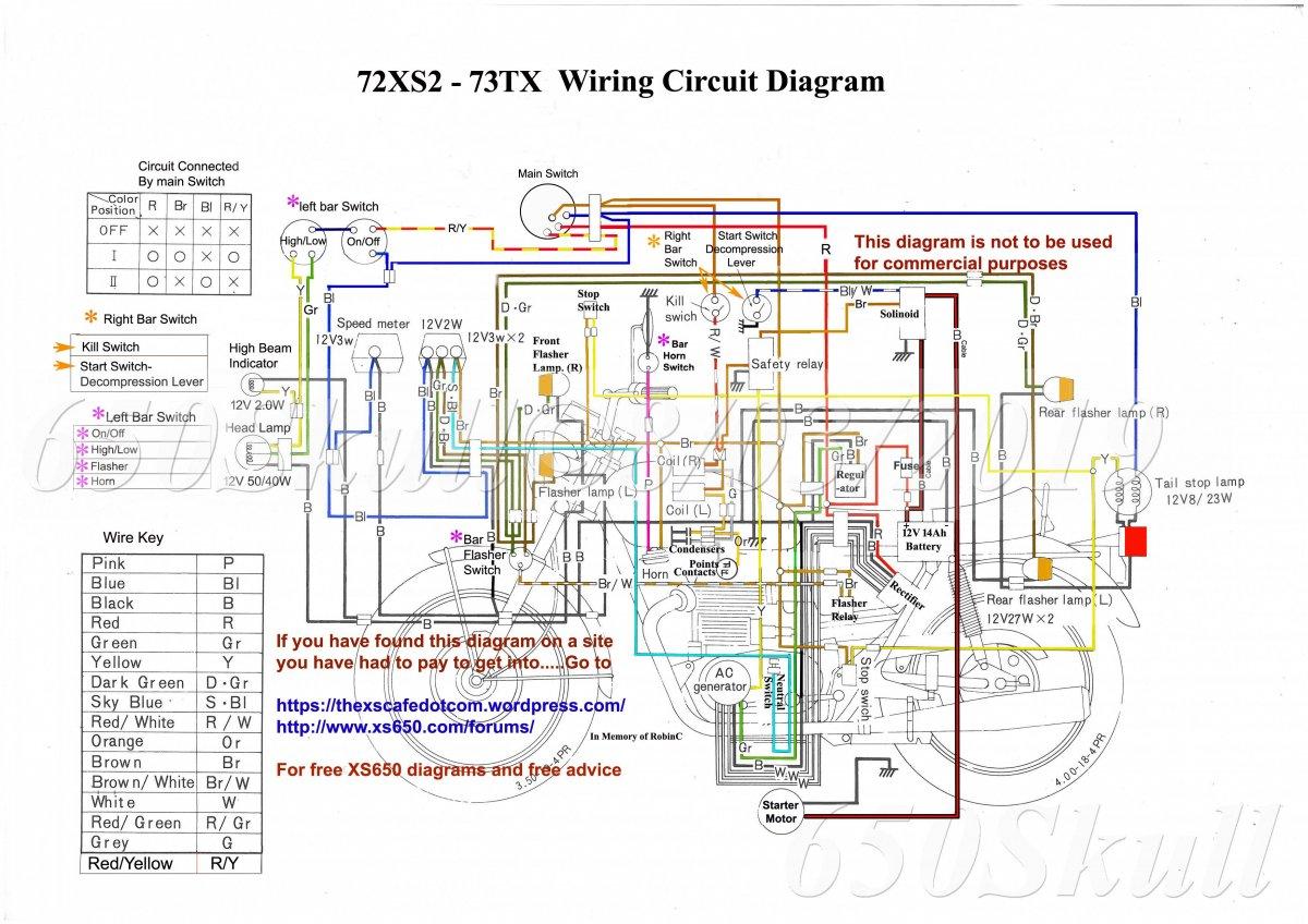 Yamaha Xs650 Bobber Wiring Diagram