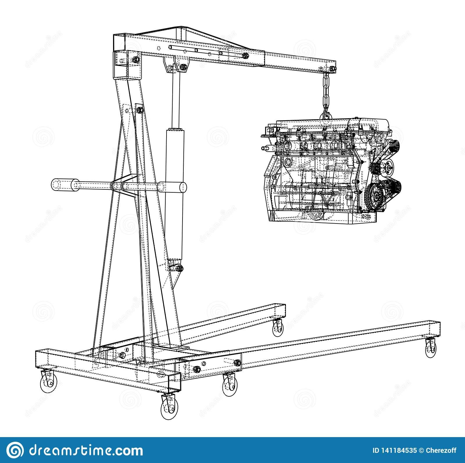 Mz 9409  Body Force Diagrams Engine Hoist Download Diagram
