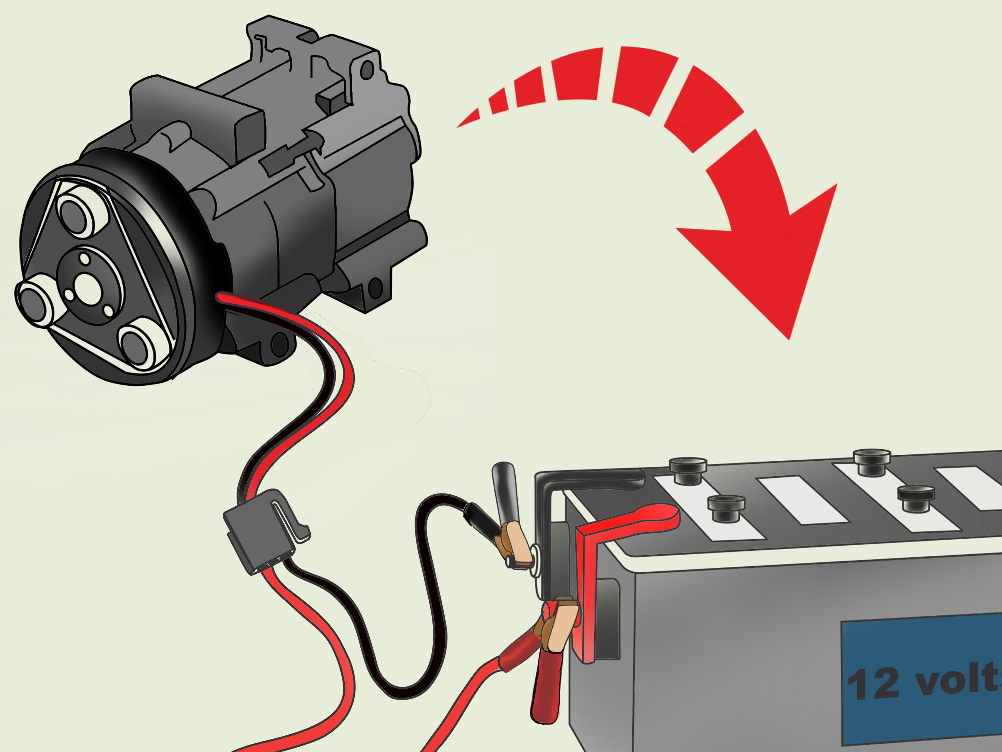 Remarkable 3 Ways To Check An Ac Compressor Wikihow Wiring Cloud Inklaidewilluminateatxorg