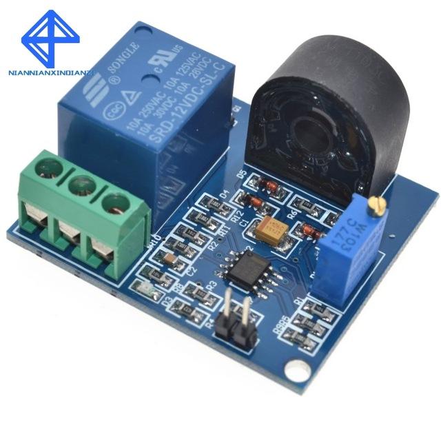 24V WCS1800 Current Detection Sensor Module DC 0-35A Overcurrent Protection