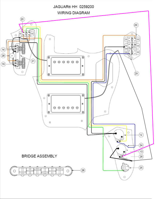 Fender Classic Player Jaguar Special Hh Wiring Diagram