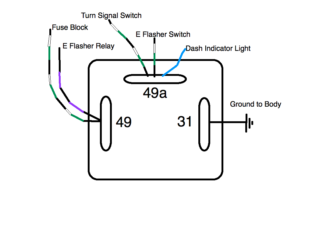 Awesome 3 Wire Flasher Wiring Wiring Diagram Wiring Cloud Eachirenstrafr09Org