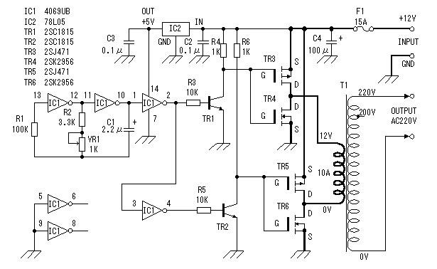 Awe Inspiring 12V To 220V Homemade Car Inverter Detailed Annotation Wiring Cloud Uslyletkolfr09Org
