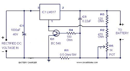 Pleasing Simple 12V Battery Charger Circuits Homemade Circuit Projects Wiring Cloud Eachirenstrafr09Org