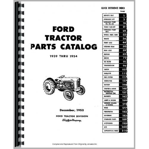 Excellent Ford 8N Tractor Parts Manual 1947 1952 Wiring Cloud Licukosporaidewilluminateatxorg