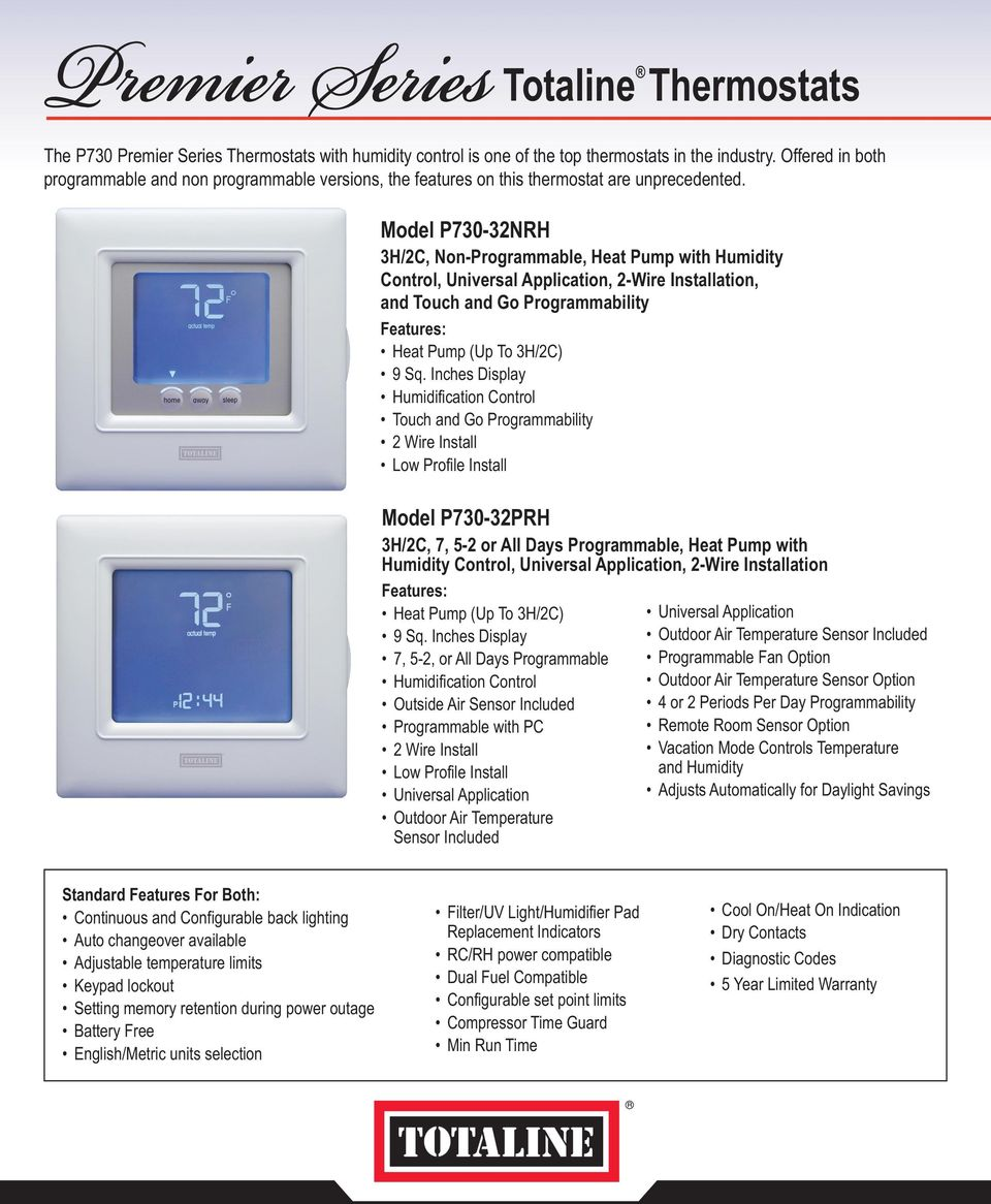 Cool The Totaline Premier Series Of Thermostats Consists Of Programmable Wiring Cloud Rineaidewilluminateatxorg
