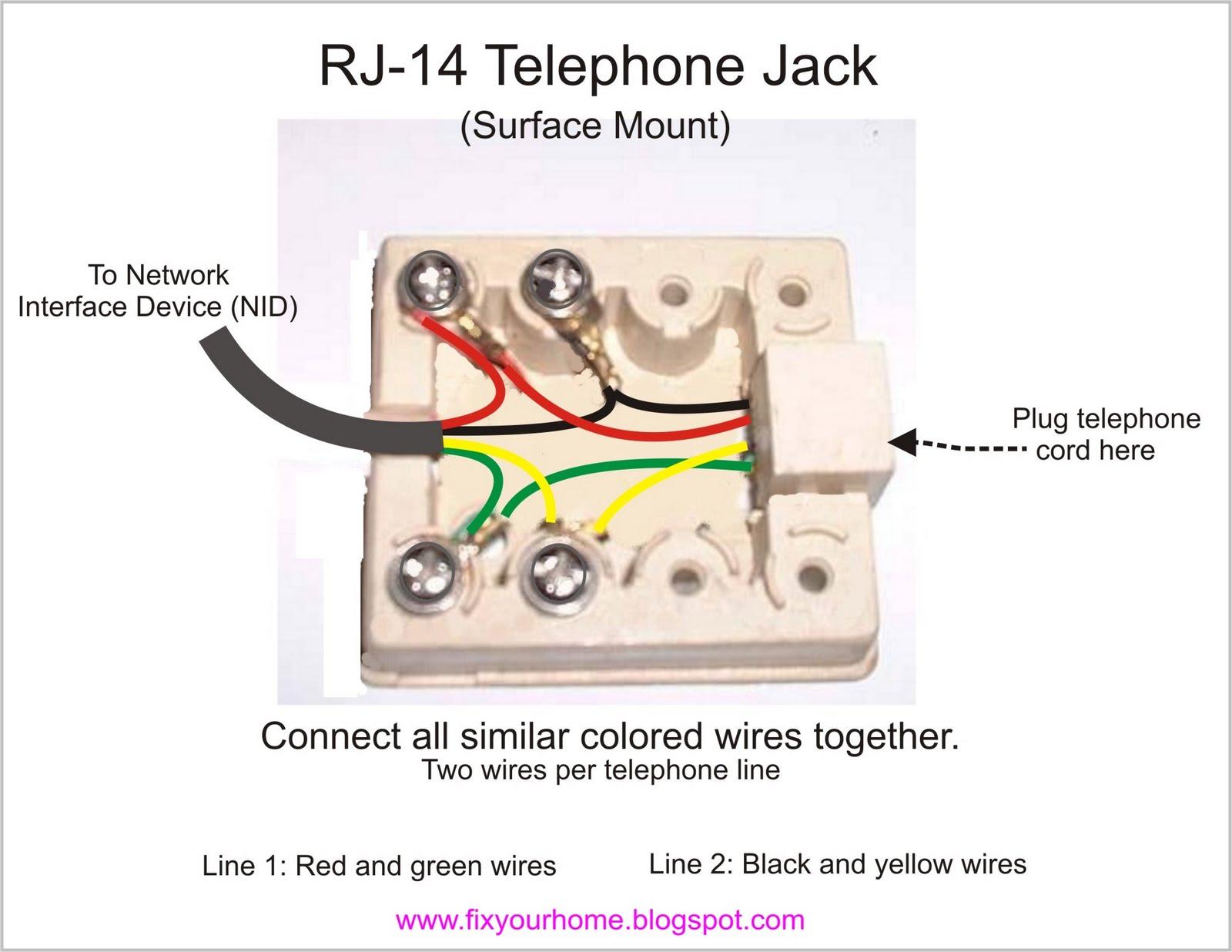 Phenomenal Rj 14 Telephone Jack Wiring General Wiring Diagram Data Wiring Cloud Eachirenstrafr09Org