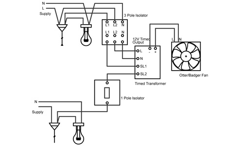 Wiring Diagram Shower Extractor Fan Light