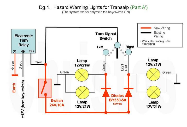 Cr 1597 Wiring Diagram Showing The Hazard Flashers Series 3