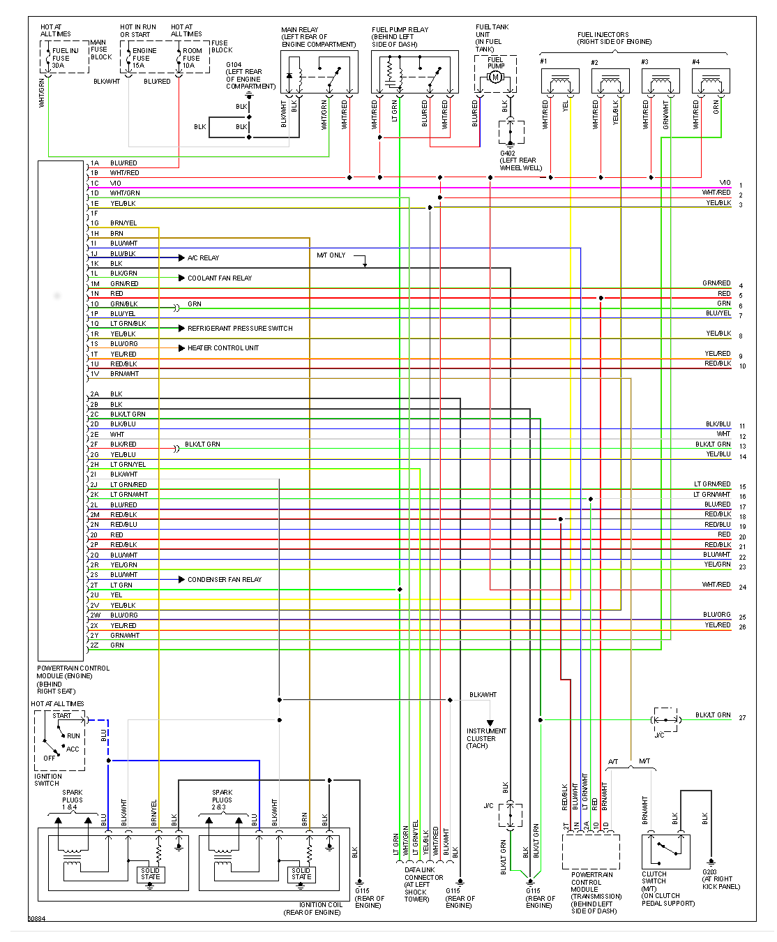 Wiring Diagram 1990 Mazda Miata