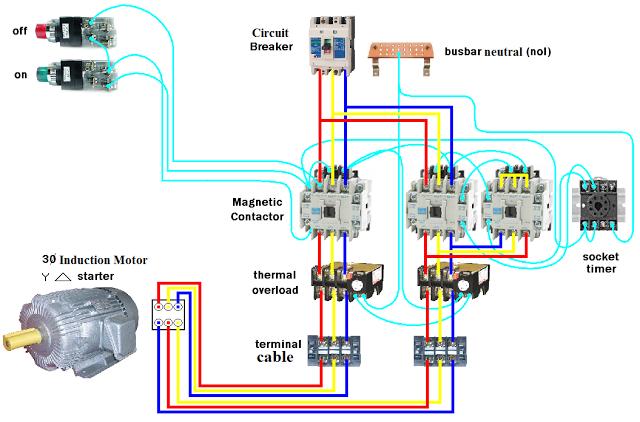 star delta motor wiring diagram ow 2305  wiring dol starter motor star delta electrical  wiring dol starter motor star delta