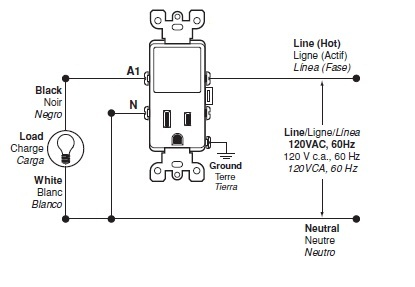 Stupendous Wiring For The T5225 Switch Leviton Online Knowledgebase Wiring Cloud Licukaidewilluminateatxorg