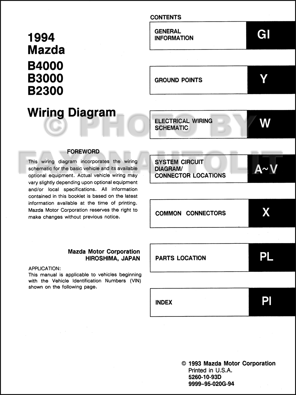 Wondrous 95 Mazda B2300 Fuse Box Diagram Basic Electronics Wiring Diagram Wiring Cloud Itislusmarecoveryedborg