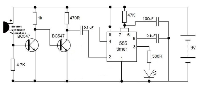 Stupendous Clap Switch Circuit Diagram Electronic Project Electronics Diy Wiring Cloud Rdonaheevemohammedshrineorg