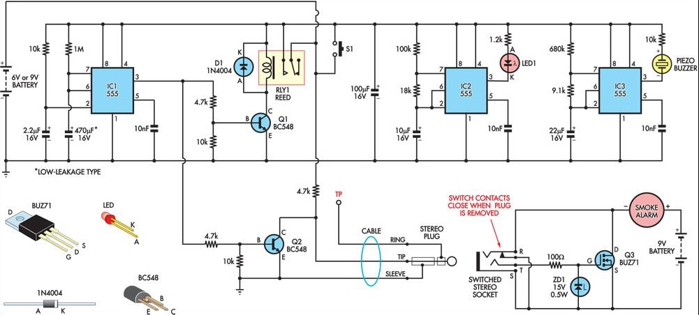 Cc 5458 Automatic Fire Alarm Circuit Schematic Diagram