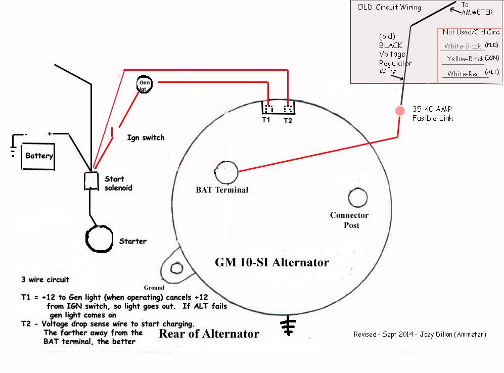 Delco Remy Alternator Wiring Diagram 3 Wire - Wiring Diagram