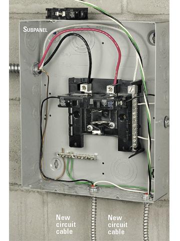 Remarkable Installing An Electrical Subpanel Better Homes Gardens Wiring Cloud Grayisramohammedshrineorg
