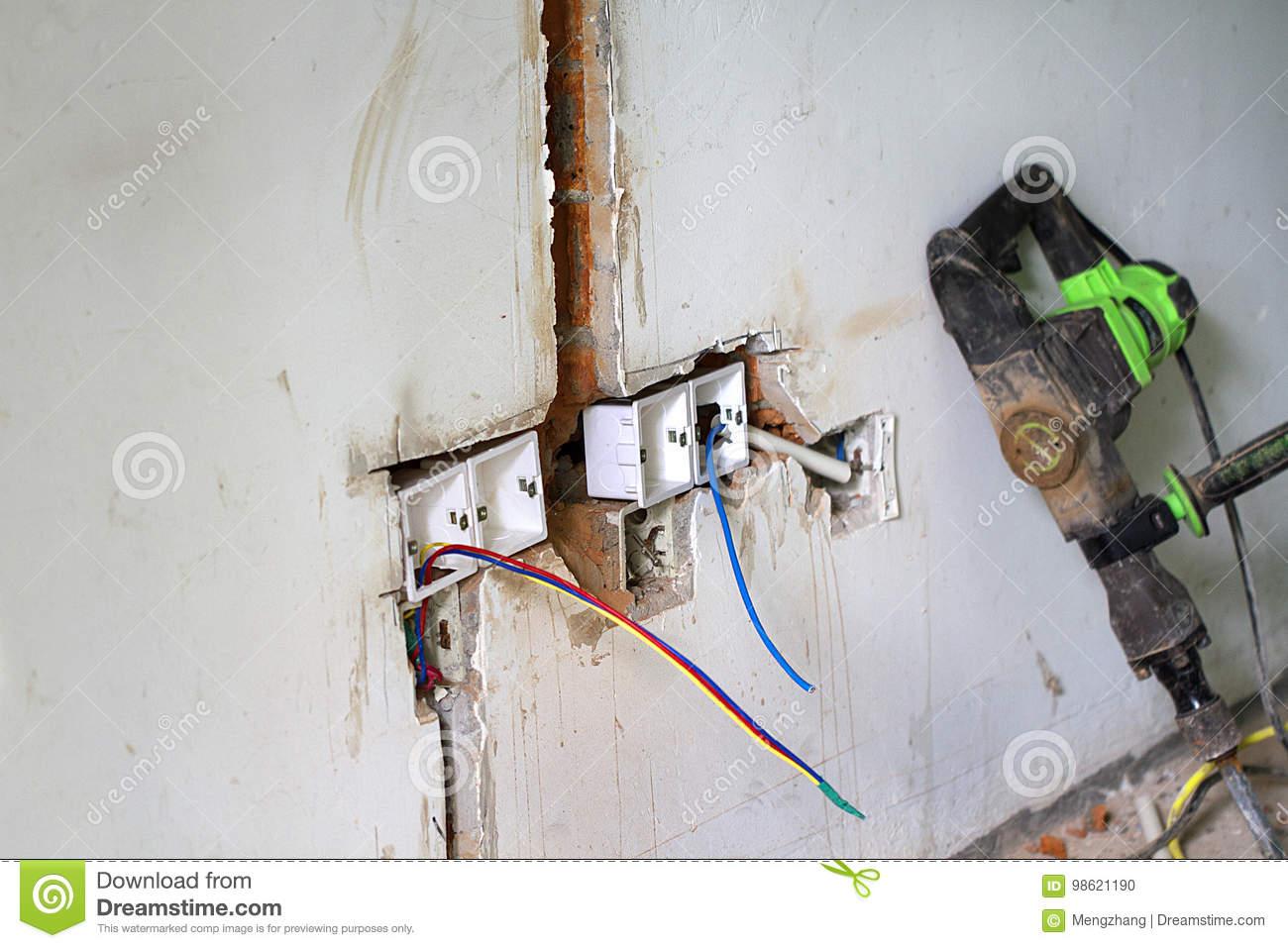 Surprising Electrical Renovation Work Light Switch Stock Photo Image Of Home Wiring Cloud Loplapiotaidewilluminateatxorg