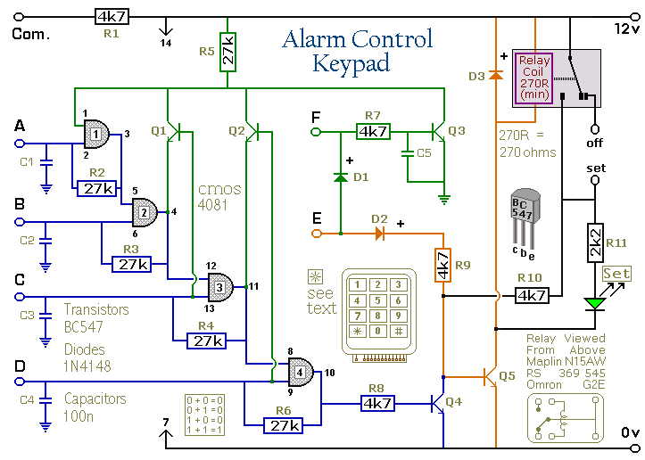 Excellent How To Build A Simple Alarm Control Keypad Wiring Cloud Vieworaidewilluminateatxorg