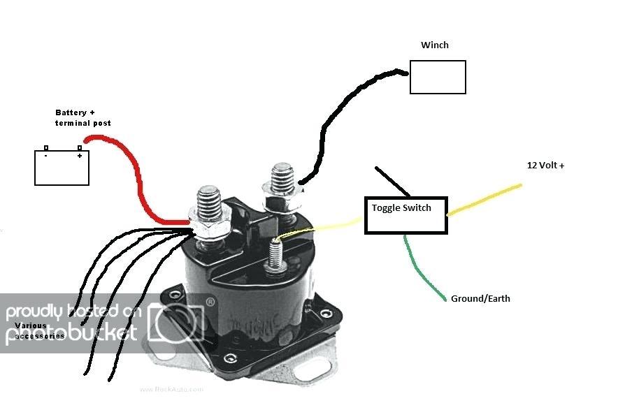 Wiring Diagram For 12 Volt Winch Solenoid
