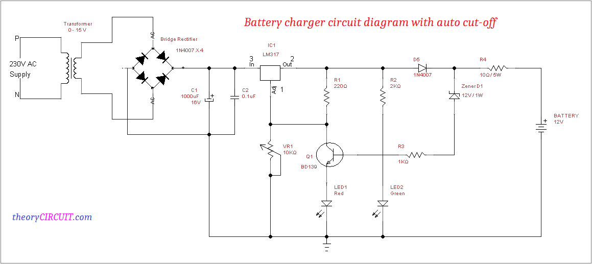Surprising Battery Charger Circuit Diagram With Auto Cut Off Wiring Cloud Intelaidewilluminateatxorg