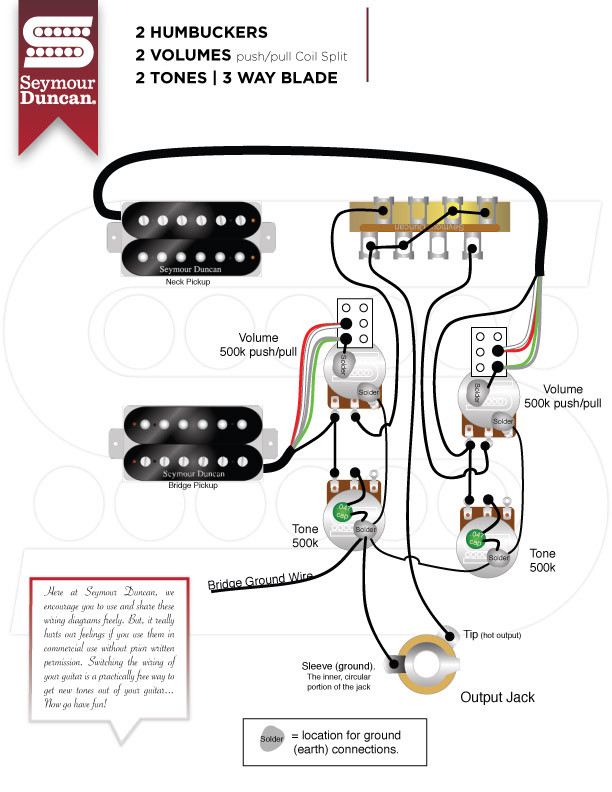 parallel wiring diagrams seymour duncan  fuel injected 305