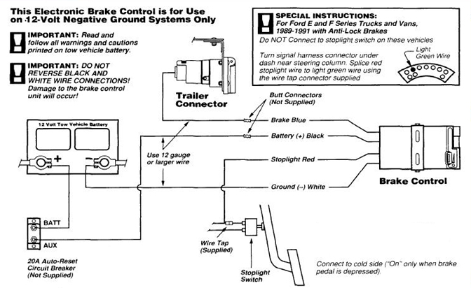 SR_7746] 4 Way Trailer Electric Brake Controller Wiring Diagram For For  Lights Schematic Wiring