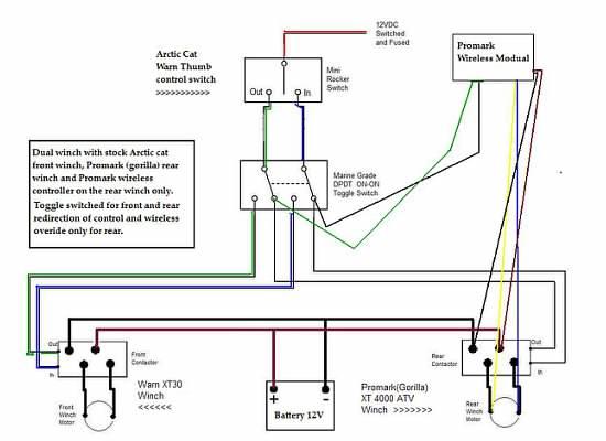 arctic cat winch wiring diagram  2001 mazda b2300 fuse