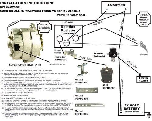 1952 ford 8n 12 volt wiring diagram zn 4465  8n front mount wiring diagram with 12 volt conv ford 9n  zn 4465  8n front mount wiring diagram