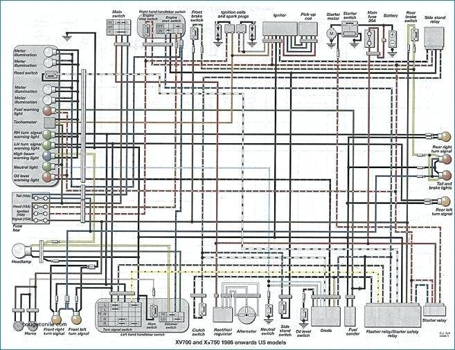 en0888 yamaha virago 700 wiring diagram get free image