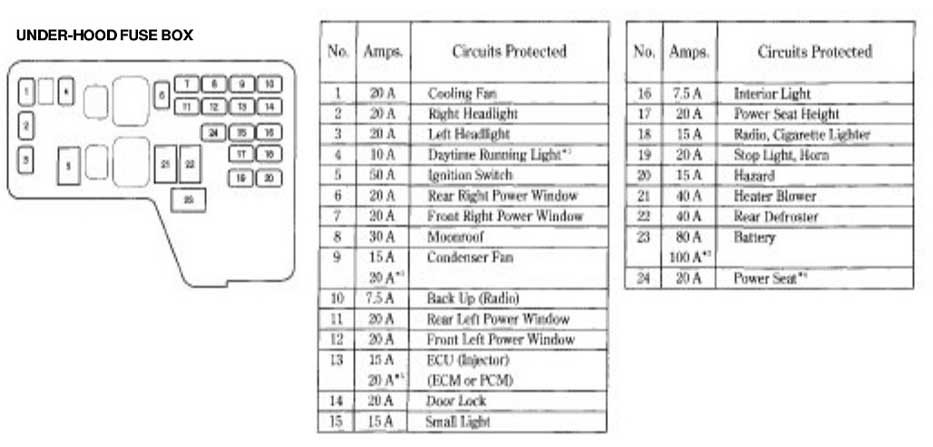 Admirable 94 Accord Fuse Box Wiring Diagram Wiring Cloud Eachirenstrafr09Org
